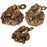 Money Frogs - Resin - Gold - Set of 12 - Original Source