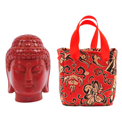 Red Resin Buddha in a Bag - Original Source