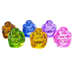 Crystal Buddha Set of 6 - Large