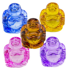 "Colorful Pocket ""Crystal"" Buddhas – Set of 5"