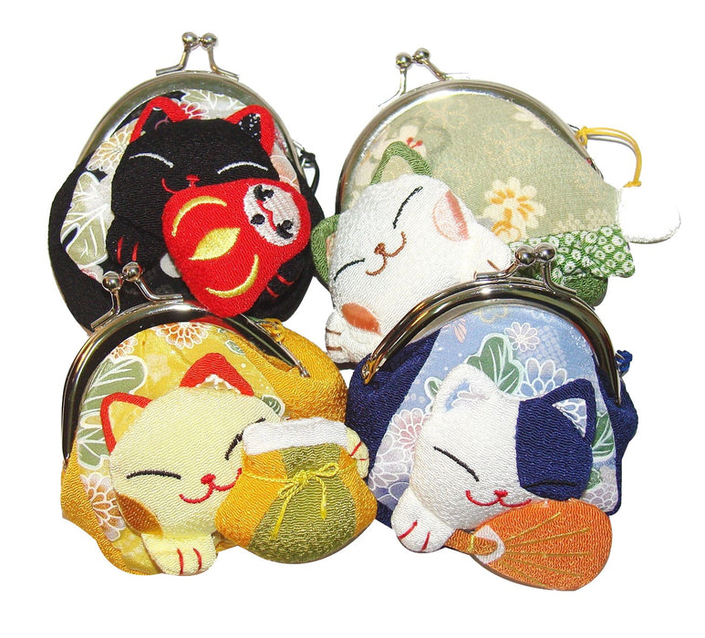 Maneki Neko Lucky Cat Purse - Black - Original Source