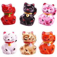 Resin Lucky Cat - Set of 6