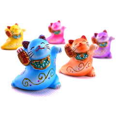 Resin Lucky Cat - Set of 5 - Original Source