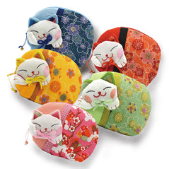 Lucky Cat Coin Purse - Assorted Colors - Original Source