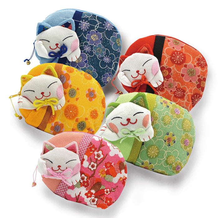 Lucky Cat Coin Purse - Assorted Colors
