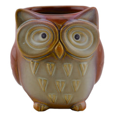 Artisanal Ceramic Owl - Red