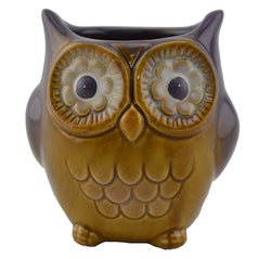Artisanal Ceramic Owl - Purple