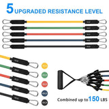 TFA 11pcs Resistance Bands. US Delivery time: max 20 days - The Fitness Avenue