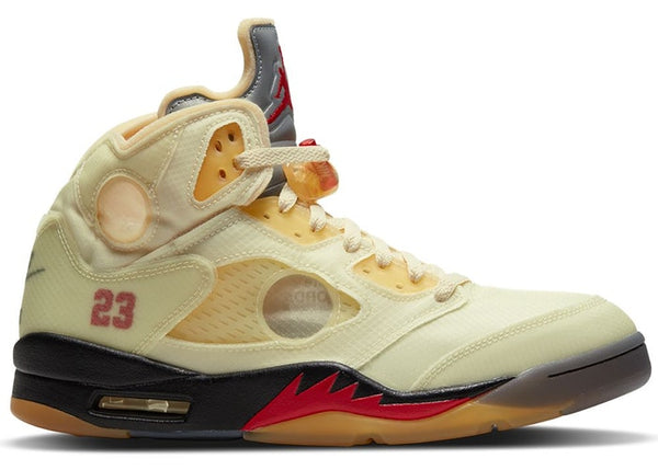 Air Jordan 5 Off White White Varsity