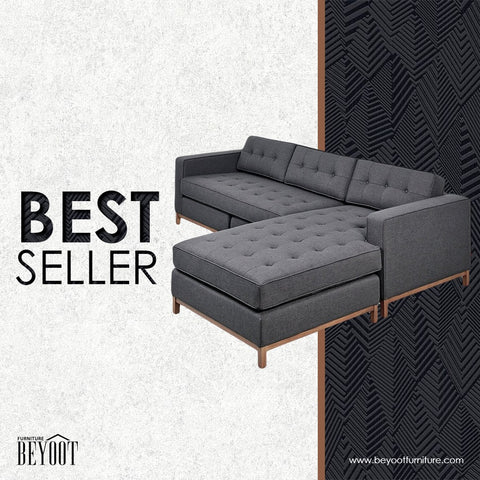 Bey.LS-01 L-Shape Sofa-Black