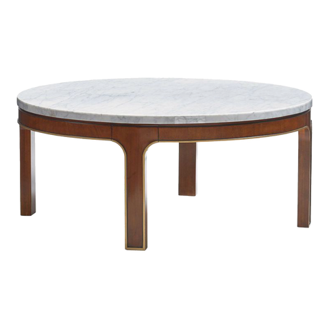 Cocktail Table CT-12 with Carrara  marble top