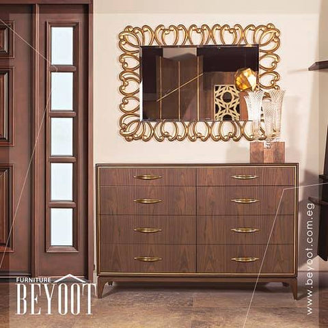 BYT-DR04 Unit Drawers-Brown&Gold