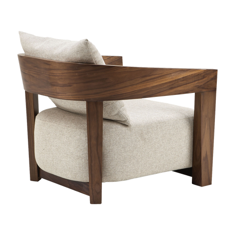 byt-CH-13 LOUNGE CHAIR - White & Brown