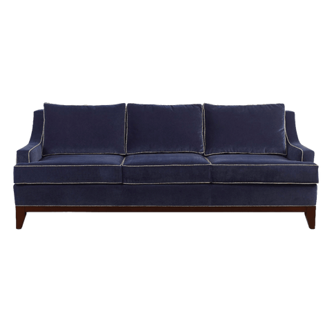 Bey.SF-03 3 Seats Sofa-Dark Blue&Brown