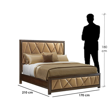 Bey.BD-12 Bed-Brown&Gold
