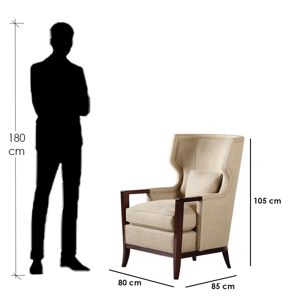 Bey.CH-06 Chair-Beige&Brown