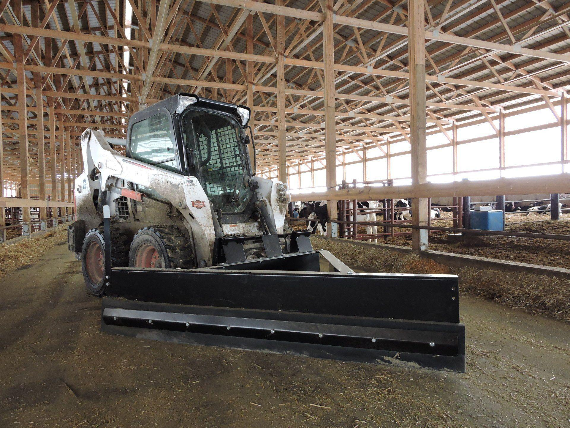 Livestock Feed Pusher - Skid Steer & Tractor - Berlon Industries Livestock Feed Pusher Berlon Industries Feed Pusher