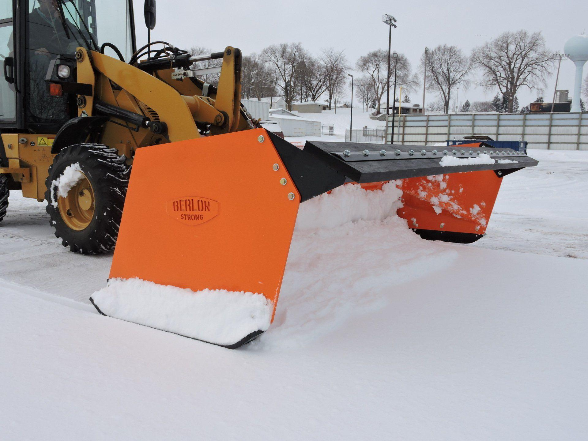 Low Profile Snow Pusher - Skid Steer & Tractor - Berlon Industries Low Profile Snow Pusher Berlon Industries 5 feet