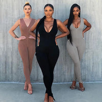 Raven V-Neck Jumpsuit
