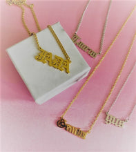 Load image into Gallery viewer, Custom Name Necklace with Chunky Curb Chain , Custom Necklace - positive metal attitude ltd