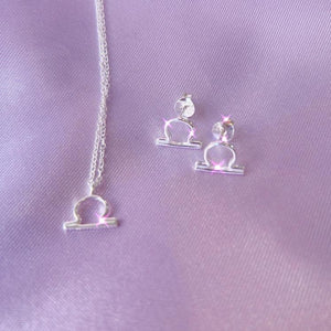 Astrology Zodiac Sterling Silver Jewellery Gift Set , Necklace - positive metal attitude ltd