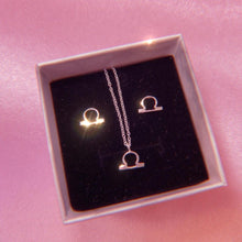 Load image into Gallery viewer, Astrology Zodiac Sterling Silver Jewellery Gift Set , Necklace - positive metal attitude ltd