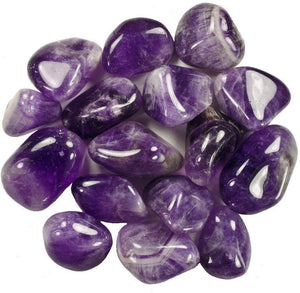 Large Amethyst Polished Tumblestone ,  - positive metal attitude ltd