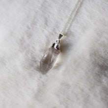 Load image into Gallery viewer, Raw Quartz Electroplated Crystal Pendant , Necklace - positive metal attitude ltd