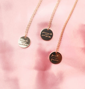 """Mind over Matter"" Gold Positive Mantra Necklace"