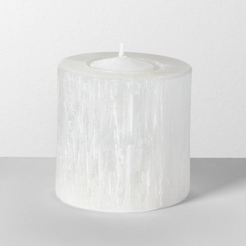 Selenite Crystal Candle Holder , Homeware - positive metal attitude ltd