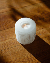 Load image into Gallery viewer, Selenite Crystal Candle Holder , Homeware - positive metal attitude ltd
