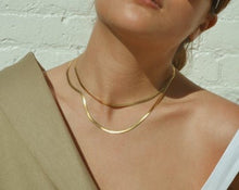 Load image into Gallery viewer, Shine Snake Chain in Gold , Necklace - positive metal attitude ltd