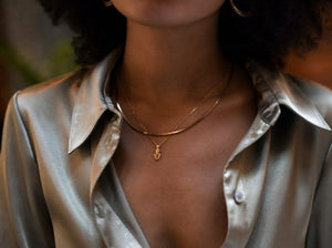 Shine Snake Chain in Gold , Necklace - positive metal attitude ltd
