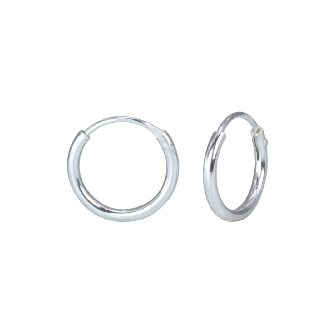 Mini Hoop Earrings in Sterling Silver , Earrings - positive metal attitude ltd