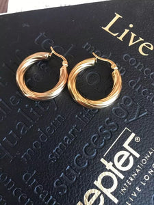 18k Gold Chunky Twist Hoops , Earrings - positive metal attitude ltd