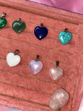 Load image into Gallery viewer, Medium Crystal Heart Gemstone Pendant Necklace , Necklace - positive metal attitude ltd