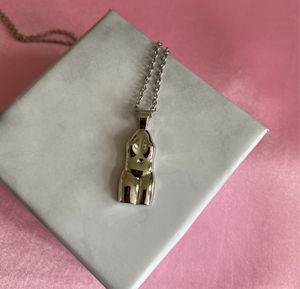 Aphrodite Body Pendant Necklace , Necklace - positive metal attitude ltd