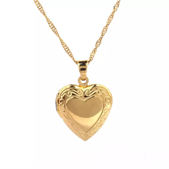 The Lovers Locket Necklace , Necklace - positive metal attitude ltd