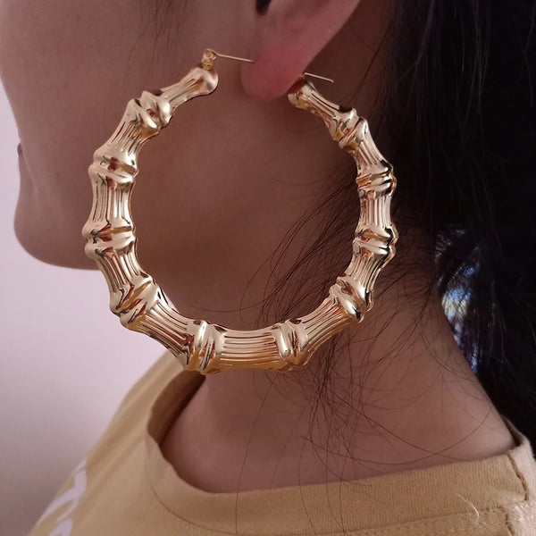 Classic Bamboo Hoop Earrings