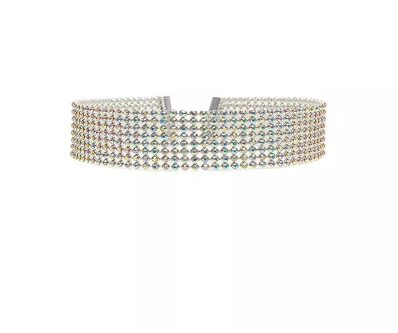 Gala rhinestone choker necklace