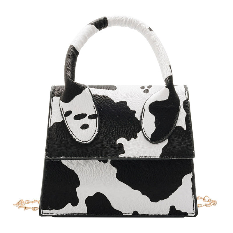 Leather Cow Print Bag