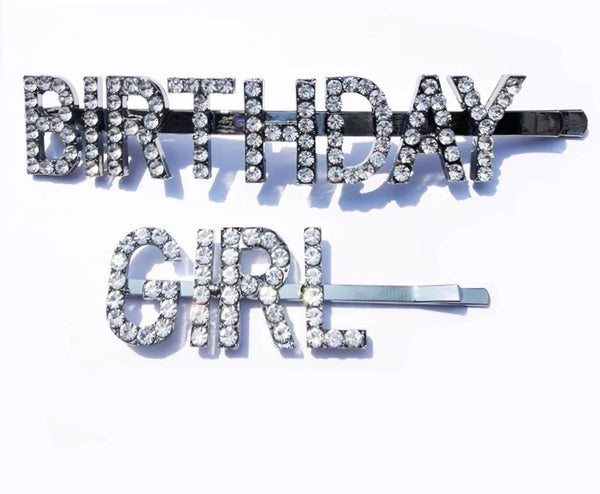 Birthday girl hairpins