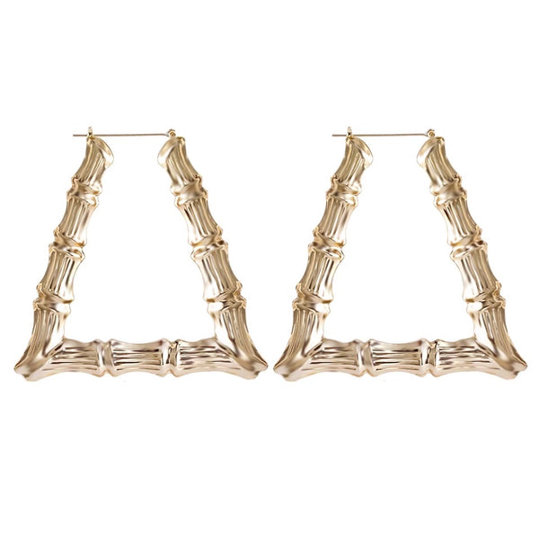 Punk Style Bamboo Hoop Earrings