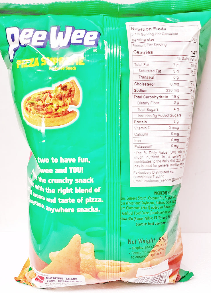 Nutri-Snack Pee Wee Pizza Supreme (BIG) 3.35oz (95g)