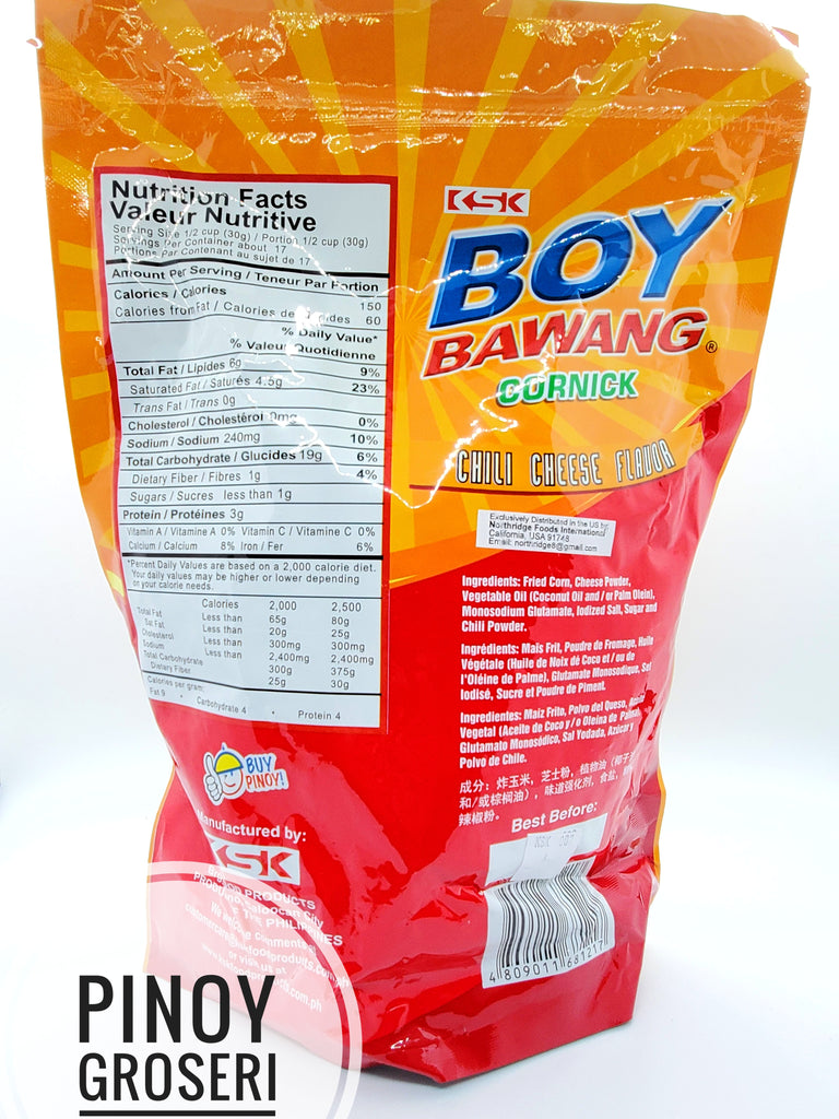KSK Boy Bawang Cornick Chili Cheese (BIG) 17.64oz (500g)