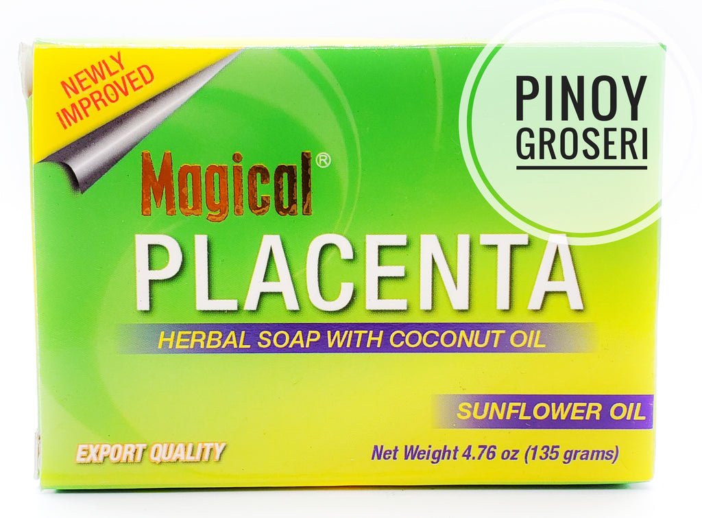 Magical Placenta Herbal Soap with Coconut-Sunflower Oil 135 grams
