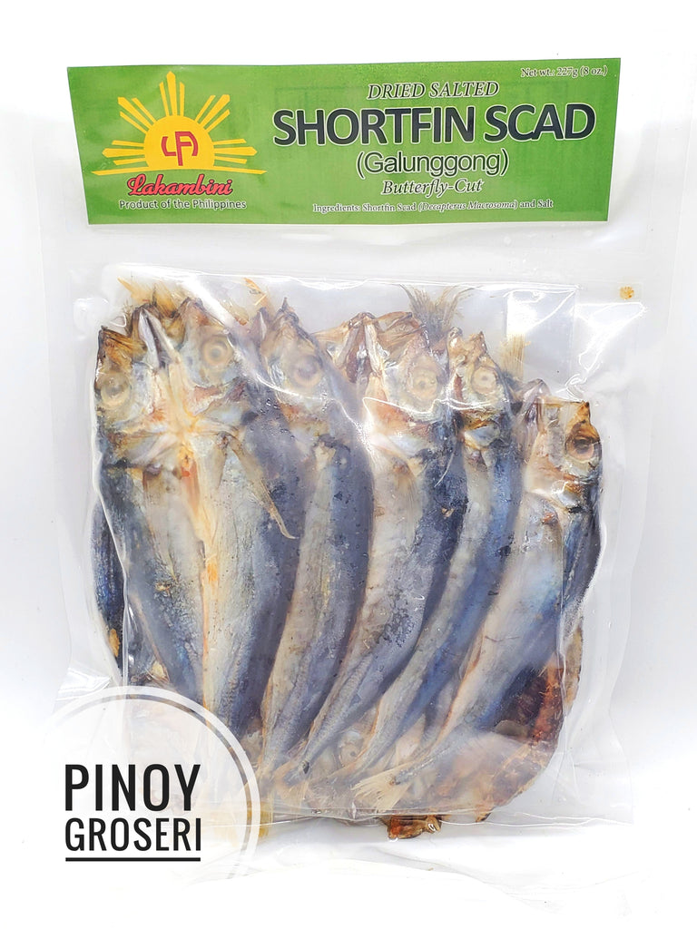 Lakambini Dried Salted Shortfin Scad (Galunggong) 8oz