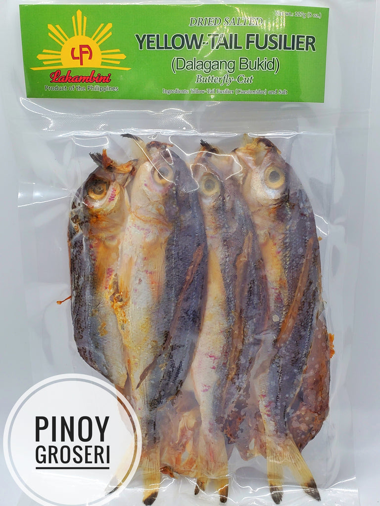 Lakambini Dried Salted Yellow-Tail Fusilier ( Dalagang Bukid) 8oz ( 227g)