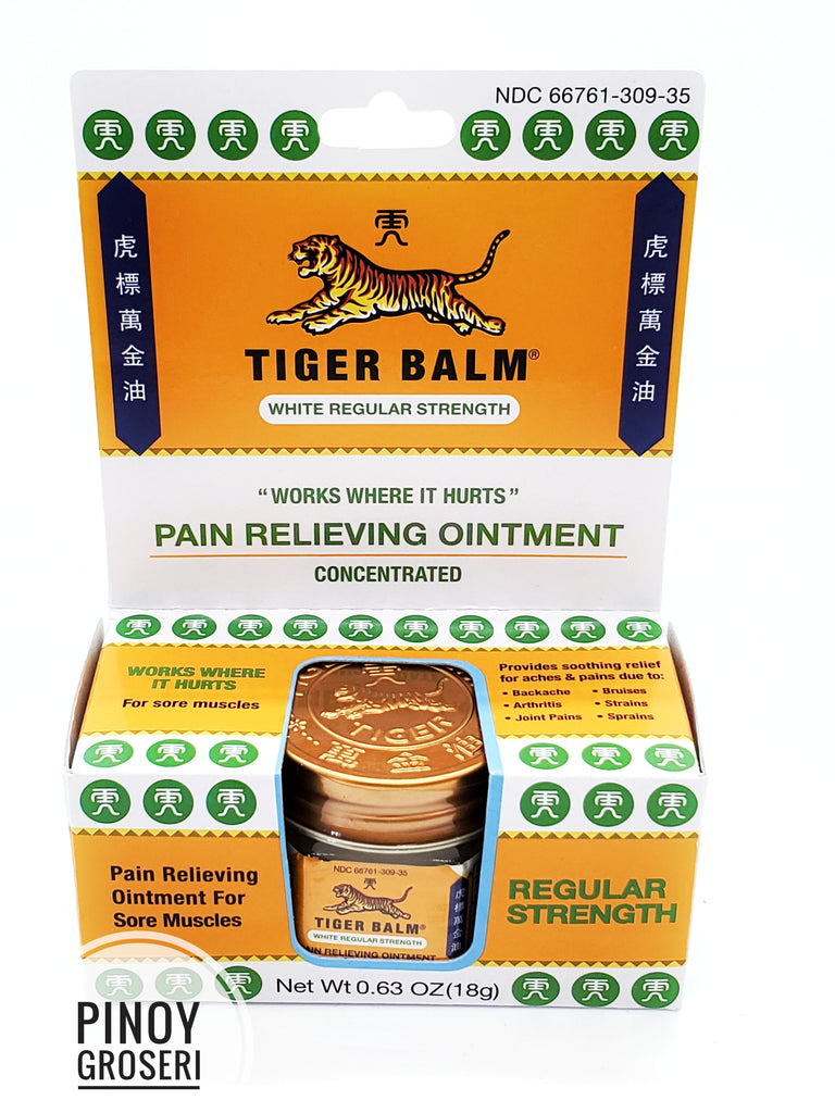 Tiger Balm White (REGULAR) Strength 0.63oz (18g)