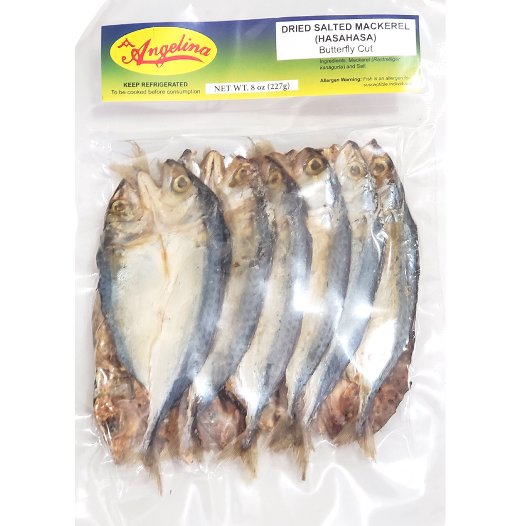 Angelina Dried Salted Mackerel (Hasa-Hasa) Butterfly Cut 8oz (227g)